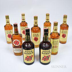 Four Roses, 3 quart bottles 3 4/5 quart bottles 3 750ml bottles