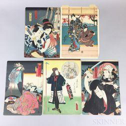 Twelve Utagawa Kunisada (1786-1865) Woodblock Prints