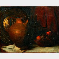 Attributed to Elizabeth Otis Lyman Boott Duveneck (American, 1846-1888) Lot of Two Works: Still Life with ...