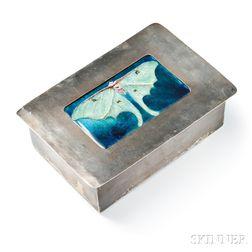 Arts & Crafts Silver and Limoges Enamel Box, Frank Gardner Hale
