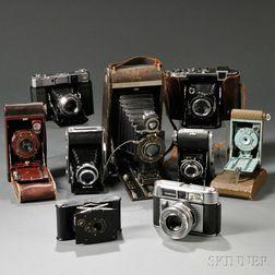 Nine German and Kodak Cameras