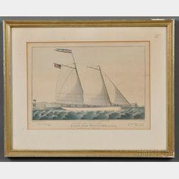 Nathaniel Currier, publisher (American, 1813-1888)      Extraordinary Express Across the Atlantic. PILOT BOAT Wm. J. ROMER.