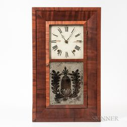 William S. Johnson Mahogany Ogee Shelf Clock