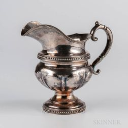 Gale & Mosely Coin Silver Creamer