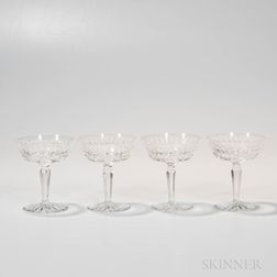 Set of Twelve Waterford Crystal Champagne Coupes