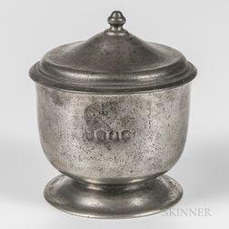 Thomas Danforth II Pewter Covered Sugar Bowl