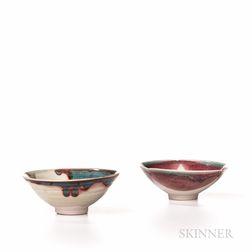 Two Makoto Yabe (Japanese/American, 1947-2005) Summer Tea Bowls