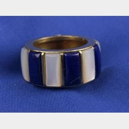18kt Gold, Lapis Lazuli, and Mother-of-Pearl Band
