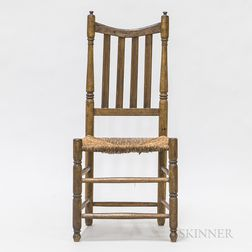 Turned Maple Bannister-back Side Chair