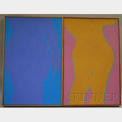 Reba Stewart  (American, 1930-1971)      Lot of Two Body Paintings