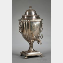 English Regency Silver-plated Hot Water Kettle