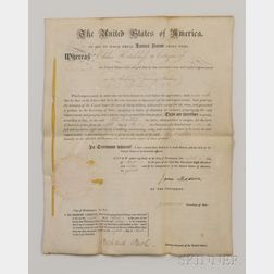 Madison, James (1751-1836) and James Monroe (1758-1831)   Letters Patent, Signed 8 January 1816.