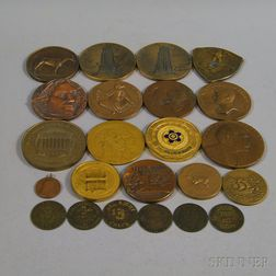 Group of Medals, Medallions, and Brothel Tokens