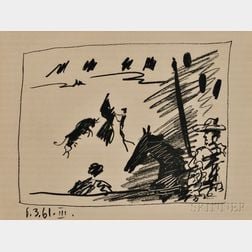 Pablo Picasso (Spanish, 1881-1973)      Jeu de la Cape