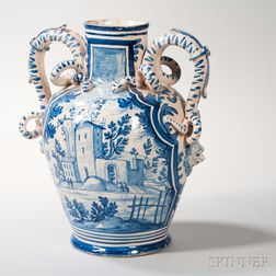 Faience Earthenware Urn