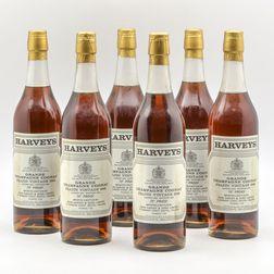 Harveys Frapin Grand Champagne Cognac 1942, 6 24oz bottles