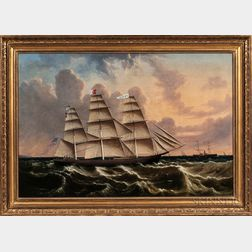 Anglo/American School, Late 19th Century      Portrait of the Clipper Ship Swallow