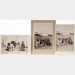 Three Cabinet Cards of Kiowa Children