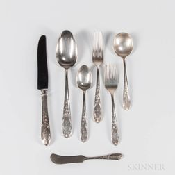 "Kirk ""Old Maryland Engraved"" Sterling Silver Flatware Service"