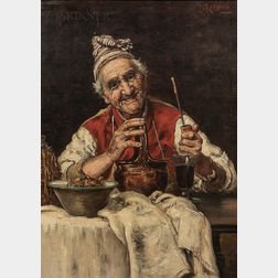 Italian School, 19th Century      After Teniers: Jovial Old Man with a Pipe