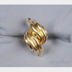 18kt Gold Bombe Ring