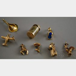 Group of Gold Charms and Pendants