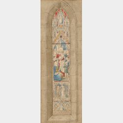 Wailes and Strang (British, 19th Century)      Presentation Drawing for a Stained Glass Window
