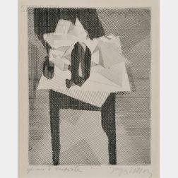 Jacques Villon (French, 1875-1963)      La table au tampon noir