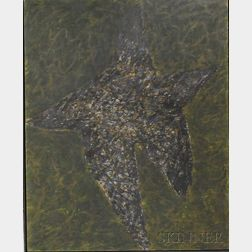 Two 20th Century Framed Works:      American School, Untitled [Star-shaped Figure]