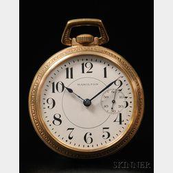 Hamilton 18 Size Offset Seconds Open Face Watch