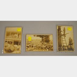 Set of Three Photographic Postcards Depicting the June 26, 1919 Lynching at   Ellisville, Mississippi