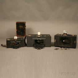 Three Panoramic Roll Film Cameras