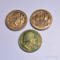 Seven U.S. Capitol Historical Society Bronze Medals