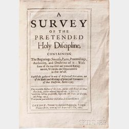 Bancroft, Richard (1544-1610) A Survey of the Pretended Holy Discipline.