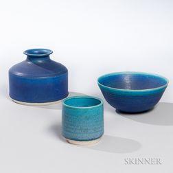 Three Pieces of Benedictine Monks Pottery