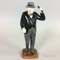 Eric Olson Ceramic Figure of Winston Churchill