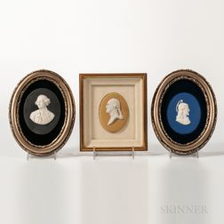 Three Wedgwood Jasper Portrait Medallions