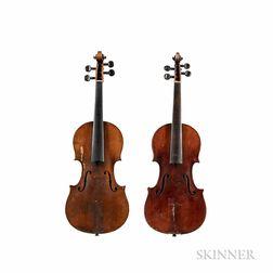 Two Three-quarter Size Violins