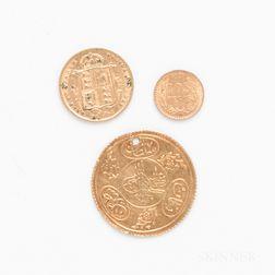 Three World Gold Coins