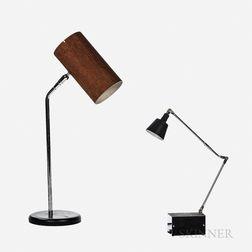 Two Modern Desk Lamps