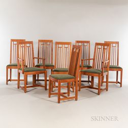 Eight Thomas Moser New Century Dining Chairs