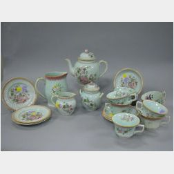 Twenty-one Pieces of Adams Calyx Ware