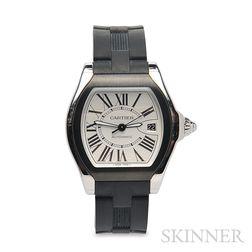 "Gentleman's Stainless Steel ""Roadster"" Wristwatch, Cartier"