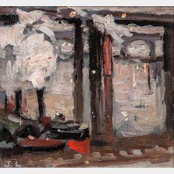 John Lavery (Irish, 1856-1941)      Urban Waterfront