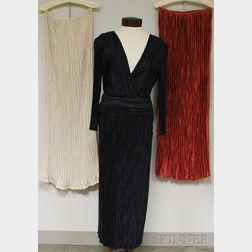 Vintage Mary McFadden Black Pleated Dress