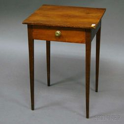 Federal Cherry and Birch One-drawer Stand.     Estimate $300-500