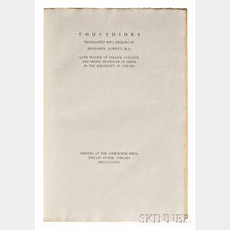 Thucydides (c. 460-c. 395 BC), trans. Benjamin Jowett (1817-1893) The History of the Peloponnesian War