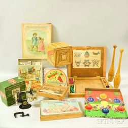 Group of Children's Toys and Games