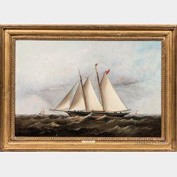Arthur Wellington Fowles (British, c. 1815-1878)      Line Schooner