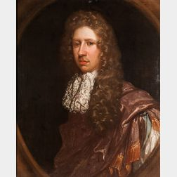 British School, 17th Century      Portrait of a Man in a Fanciful Costume